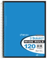 Top Flight Wide-Ruled 3-Subject Notebook - Assorted