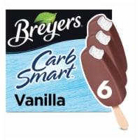 Breyers Carb Smart Vanilla Bars Frozen Dairy Dessert 6 Count