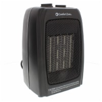 Comfort Zone Portable Electric Ceramic Fan Forced Personal Space Heater, Black - 1 Unit