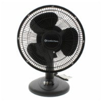 Comfort Zone Oscillating Table Fan - Black - 12 in