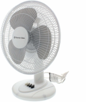 Comfort Zone Oscillating Desk Fan - White - 12 in