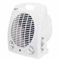 Comfort Zone Compact Portable Electric Space Heater Fan Combination Unit, White - 1 Unit