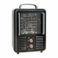 Comfort Zone Compact Portable Electric Utility Space Heater Personal Fan, Black