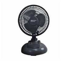 Comfort Zone Clip/Desk Combo Fan - Black