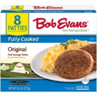 Bob Evans Farm-Fresh Goodness Fully Cooked Original Pork Sausage Patties