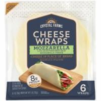 Crystal Farms Mozzerella Cheese Wraps 6 Count