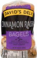 David's Deli Cinnamon Raisin Bagels 5 Count