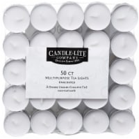 Candle-lite Multi-Purpose Unscented Tea Light Candles 50 Count - White