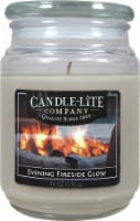 Candle-lite Evening Fireside Glow Glass Jar Candle - Natural