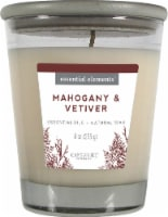 Candle-lite Essential Elements Mahogany and Vetiver Glass Jar Candle - White