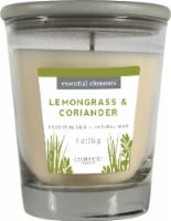 Candle-lite Essential Elements Lemongrass and Coriander Glass Jar Candle - White