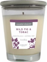 Candle-lite Essential Elements Wild Fig and Tobac Glass Jar Candle - White