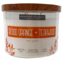 Candle-lite Essential Elements Blood Orange & Teakwood Glass Jar Candle - Ivory