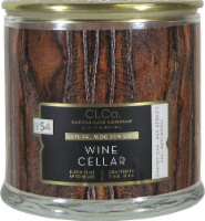 Candle-lite CLCo™ Wine Cellar Natural Wooden Wick Glass Jar Candle - White