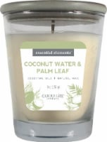 Candle-lite Essential Elements Coconut Water & Palm Leaf Jar Candle - Ivory