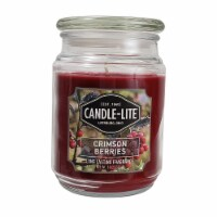 Candle-lite Crimson Berries Scented Jar Candle - Red