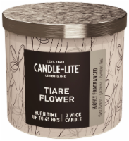Candle-lite Tiare Flower Jar Candle - White