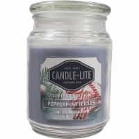Candle-lite Peppermint Icicles Scented Jar Candle - Blue