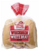 Village Hearth Wisconsin White Brat Buns - 15 oz