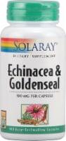 Solaray Echinacea and Goldenseal Capsules - 100 ct