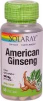 Solaray American Ginseng Vegetarian Capsules 480mg - 50 ct
