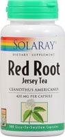 Solaray Red Root Jersey Tea Capsules
