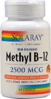 Solaray Methyl B-12 Sugar Free Mango Peach Flavor Lozenges 2500mcg - 60 ct