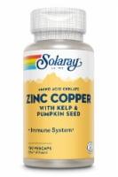 Solaray  Zinc Copper - 100 Vegetarian Capsules
