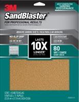 3M SandBlaster 80 Grit Coarse Sandpaper - 4 pk