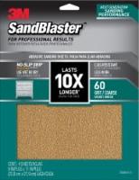 3M SandBlaster 60 Grit Abrasive Sanding Sheet - 4 Pack