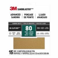 3M  SandBlaster  11 in.  L x 9 in.  W 80 Grit Aluminum Oxide  Sandpaper  15 pk - Case Of: 1; - Count of: 1