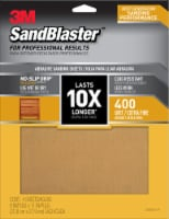 3M SandBlaster 400 Grit Abrasive Sanding Sheets - 4 Pack