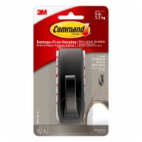 Command™ Modern Reflections Oil Rubbed Metal Hook - Bronze - L