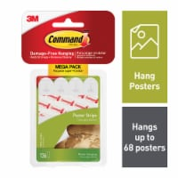 Command™ Poster Strips Mega Pack 136 Pack - White