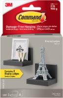 Command™ Damage-Free Hanging Display Ledges - 2 Pack - Slate