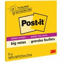 Post-It Notes Super Sti Big Notes, 11 X 11, Yellow, 30 Sheets BN11 - 1