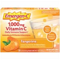 Emergen-C 1000 mg Tangerine Vitamin C Immune Supplement Fizzy Drink Mix Packets