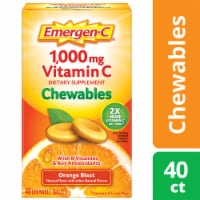 Emergen-C Chewables Orange Blast Dietary Supplement Chewable Tablet