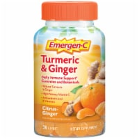 Emergen-C Turmeric and Ginger Citrus Dietary Supplement Gummies 250mg