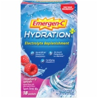 Emergen-C Hydration+ Electrolyte Replenishment Raspberry Splash Sports Drink Mix Packets