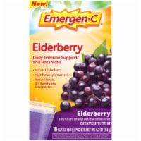 Emergen-C Elderberry Daily Immune Support Dietary Supplement Fizzy Drink Mix Packets 18 Count