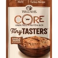 Wellpet WP16105 1.75 oz Wellness Core Tiny Tasters Chicken & Turkey Pouch Cat Food - 1
