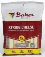 Baker Cheese Part-Skim Mozzarella String Cheese