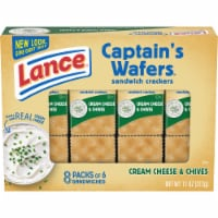 Lance Captain's Wafers Cream Cheese and Chive Sandwich Crackers