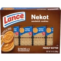 Lance Nekot Peanut Butter Filled Sandwich Cookies - 8 ct / 1.75 oz