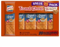 Lance Peanut Butter Toast Chee Sandwich Crackers Family Pack 20 Count