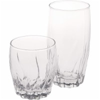Anchor Hocking Central Park Drinkware Set 16 Piece - Clear
