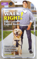"""Walk Right! Large 25""""- 34"""" Black Front-Connect Padded Harness"""