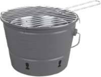 Coleman Party Pail Charcoal Grill - Gray