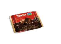 Loacker Dark Creme Chocolate Filling Crispy Wafer Bar - 1.94 oz